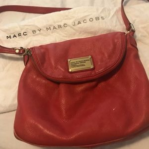 Marc Jacobs red leather cross body bag